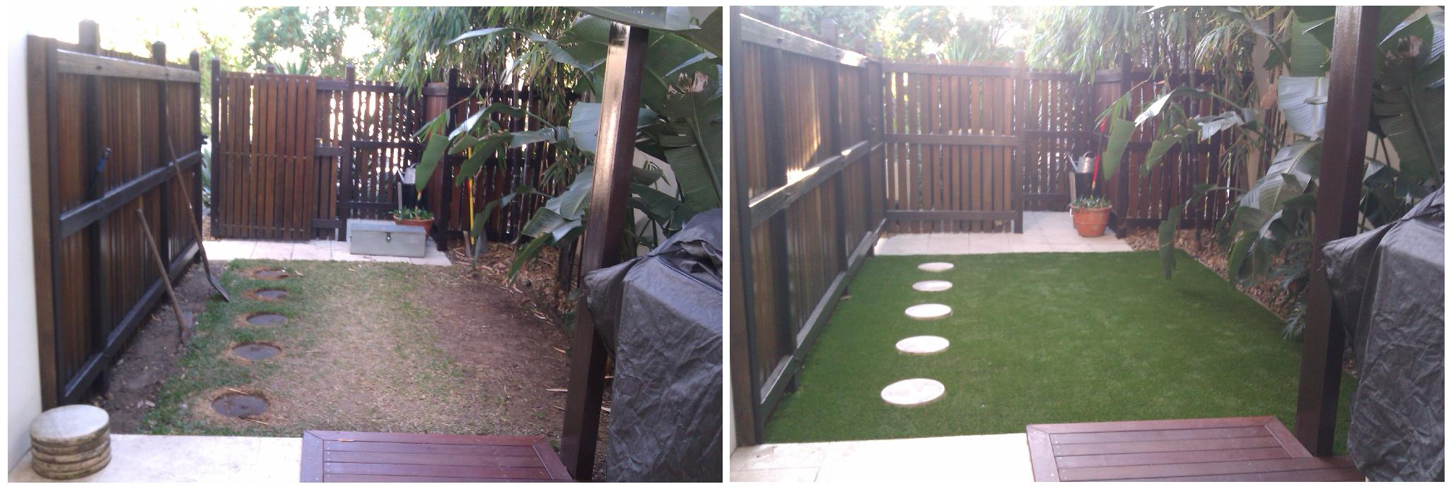 Bulimba synthetic Turf Courtyard